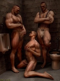 3 d gay sex gay art amazing naked gays are having fun toilet