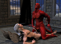 3d cartoon gay porn devil angel going all out