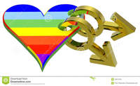 3d gay sex free gold gay symbol linked rainbow heart royalty free stock