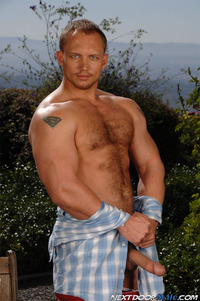 Billy Brandt Porn john magnum hot muscular bodybuilder thick cock hairy torso tattoos blue eyes masculine dominant girth dick next door male posing beefy powerful scruffy gay porn star