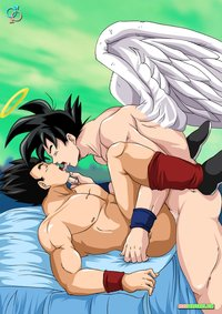 adult gay porn comics dragon ball son gohan goku tired