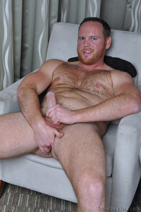 all gay porn site brian comer guy gay porn cub bear hairy beefy redhead red ginger beard jerking off dick cock stroking masturbation solo average next door cubs naked all clementine base