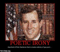 American gay porn Pictures political poetic irony rick santorum gay porn politics fun eerie disturbing similarities between satan question
