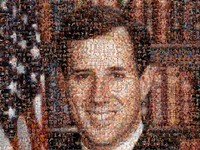 American gays porn rick santorum portrait made entirely gay porn nsfw ish santorums piece corpse robocalls americas youth
