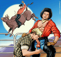 anime gay sex Pic pic gay anime fantasies from cowboys brave knights