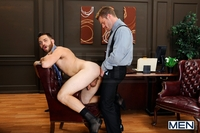 at gay porn gallery horny publisher tommy defendi landon conrad gay office photo andrew stark