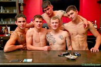 awesome gay porn bric dustin nick gunner rusty zander active duty group orgy gay porn five guys bar some