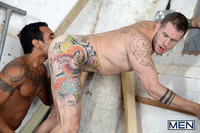 back gay porn men back door intruder lucio saints harley everett gay porn photo