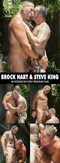 bear man gay sex collages bearfilms brock hart steve king bear men fucking shower