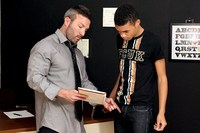 Brock Landon Porn teachtwinks brocklandon robbieanthony standahead teacher brock landon gives his student robbie anthony some special after class lessons stands fucking