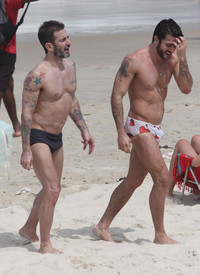 being a gay porn star marc jacobs former gay porn star harry louis speedo beach brazil deal its hanging out his well hung boyfriend
