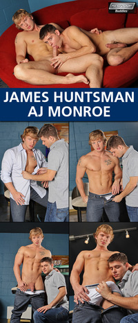 AJ Monroe Porn collages nextdoorbuddies james huntsman monroe blows