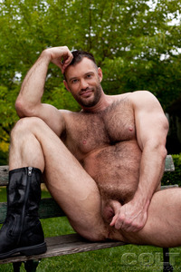 best gay bear porn aaron cage gay hardcore porn star muscle bear hairy huge pecs bottom ass jockstrap colt studio group gruff stuff brenden fucking sucking masculine