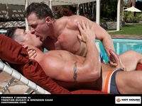 Calvin Koons Porn hot house trunks brenden cage gay porn star pool outdoors search