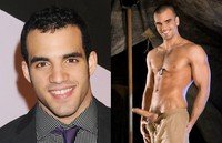 best gay male porn stars dameindanell separated birth reals olympic gymnast danell leyva gay porn star damien crosse