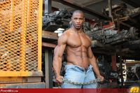 big black muscle men hung black muscle hunk akira jyn jacks off his cock power men mid