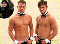 Channing Tatum Porn channing tatum matt bomer shirtless magic mike stills going hilarious