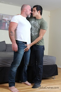 big dad gay porn bronson gates michael rogue ripped muscle bodybuilder strips naked strokes his hard cock jake cruise photo category