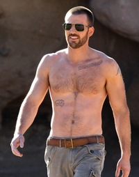 Chris Evans Gay Nude chris evans shirtless hairy chest scruffy details magazine climbing