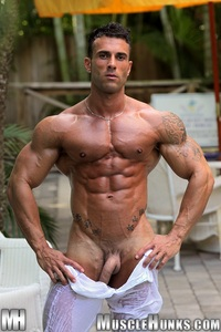 big dick muscle hunk gianluigi volti strips naked strokes his hard cock ripped muscle bodybuilder torrent photo dick shed inhibitions pool