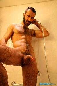 big hairy gay porn bentley race aybars hairy turkish guy huge cock jerking off amateur gay porn his thick shower