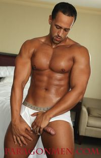 big Latino men hung latino muscle hunk bodybuilder kenny brown jacks off his cock paragon men mid