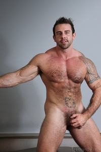 big muscle hunk guy muscle hunk bear xavier muscles dark fur tattooed stud masturbates tattoos male tube red gallery photo