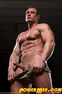 big muscle hunk muscle hunk carl payne powermen ripped bodybuilder strips naked strokes his hard cock photo