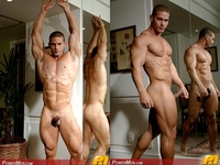 big muscle hunk horse hung bodybuilder claude carroll jacks off his muscle hunk cock power men bottom