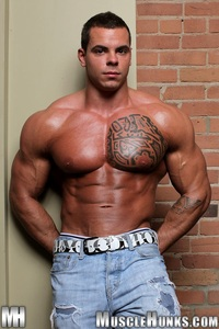 big muscle hunk norman cox muscle hunks ripped bodybuilder strips naked strokes his hard cock photo musclehunk