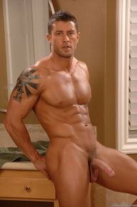 CODY CUMMINGS Porn hung hard muscle hunk cody cummings gets naked jacks off his cock pic