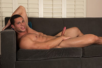 big uncut Latino dick young latino muscle hunk josh strips naked jacks off his hard uncut cock sean cody pic