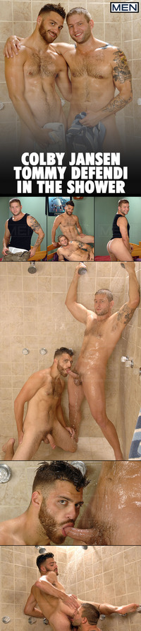 Colby Jansen Porn collages men tommy defendi colby jansen last shower