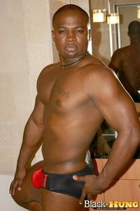 black and gay porn black hung total package muscle thug jerking his thick cock amateur gay porn