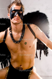 black gay guys pic depositphotos muscular gay male black angel costume stock photo