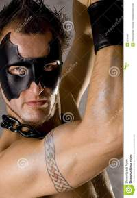 black gay guys pic gay guy black mask royalty free stock photography