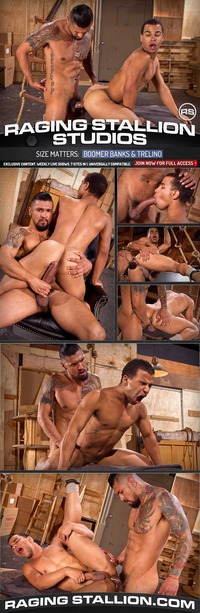 black gay monster cock porn ragingstallion size matters boomer banks trelino gavin greene jerks off his monster cock