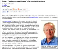Dick Fisk Porn robert fisk demonizes persecuted christians raymond ibrahim