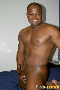black gay pron pics black hung total package muscle thug jerking his thick cock amateur gay porn off