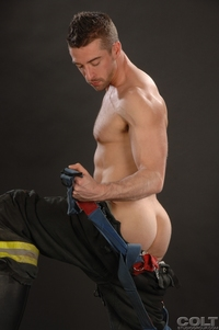 black hot gay porn scott hunter uniform men firefighter jockstrap gay porn star colt studio group bob hager hairy masculine hot passionate free black