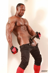 black hunk muscle next door ebony derek jackson monster cock