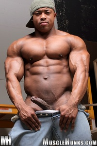 black muscle hunks black naked ron hamilton gallery ripped muscle bodybuilder strips strokes his hard cock hunks photo