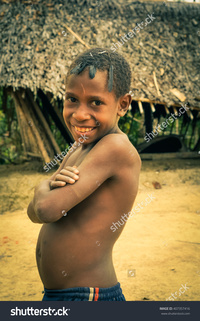 black naked males stock photo will papua guinea july young half naked boy crossed arms black pic