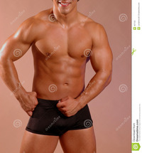 black naked males male torso stock photography
