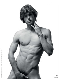 black naked men models may fred goudon black white
