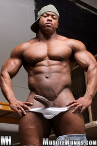 black naked muscle men black naked ron hamilton gallery ripped muscle bodybuilder strips strokes his hard cock hunks photo