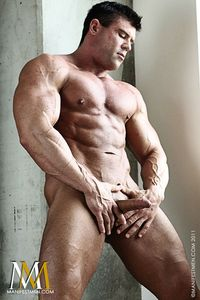 body builder naked smooth ripped bodybuilder damien strips naked strokes his cock vin marco manifest men pic