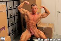 body builder naked smooth bodybuilder otto mann strips naked strokes his hard cock muscle hunks pic
