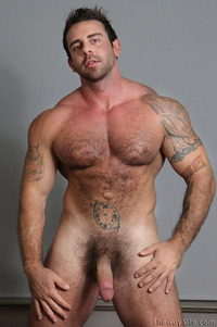 body builder naked hairy bodybuilder xavier strips naked strokes his hard cock guy pic bodybuilding