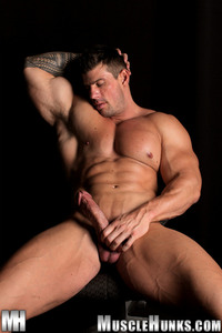 bodybuilder porn gay bodybuilder gay porn stud zeb atlas strips naked strokes his hard cock unzipped muscle hunks pic